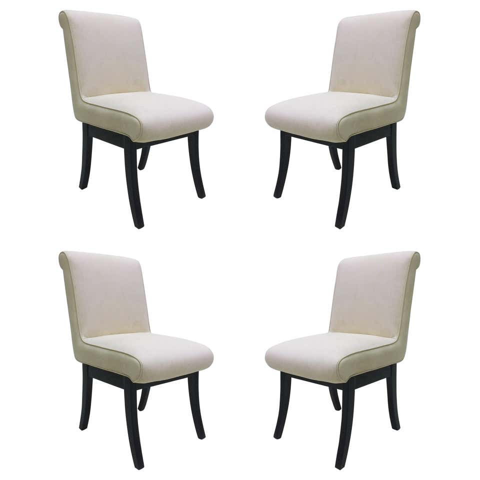 Set of 4 Van Keppel, Green Chairs