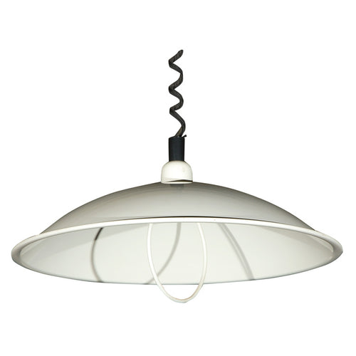 Adjustable French White Enamel Hanging Fixture