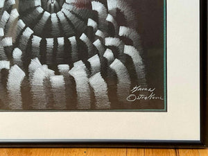 Shell Motif Dining Chairs with Blue Upholstery, Set of Six