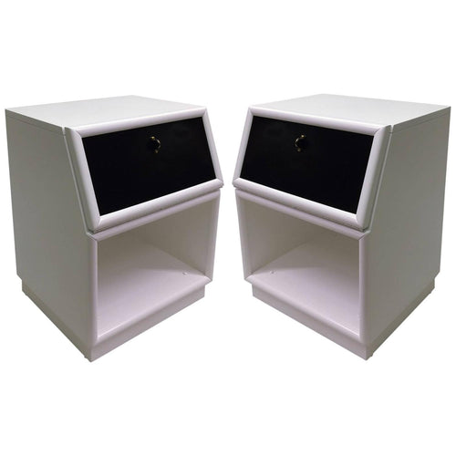 Pair of Two-Tone Nightstands by Henredon