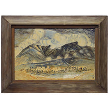 Load image into Gallery viewer, Mid-Century Landcape of Mountains and Village