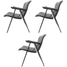 Load image into Gallery viewer, Set of Three Folding Metal Chairs by Russel Wright