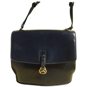 Dark Blue Gucci Double Shoulder Strap Bag