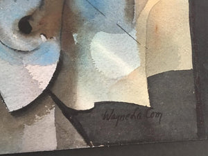 Abstract Watercolor by Wayne La Com