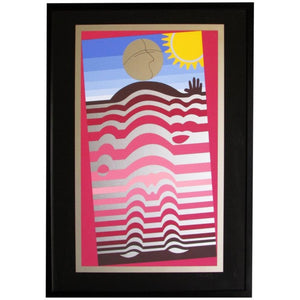 """Sunbather"" Hand Signed Silkscreen by Victor Vasarely"