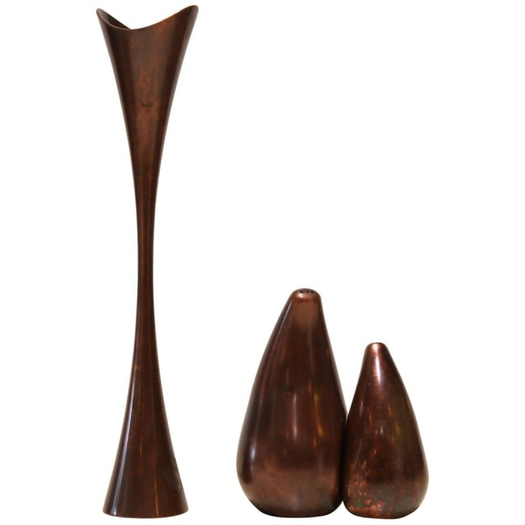 Trio of Patinated Copper Kitchenware by Nambe