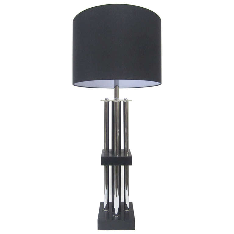 Tubular Chrome Column Lamp