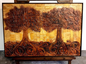 Large Organic Painting of Trees