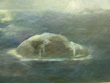 Load image into Gallery viewer, Ethel Sharp Oil Painting of Dream-like Island and clouds