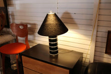 Load image into Gallery viewer, Clear and Black Lucite Table Lamp