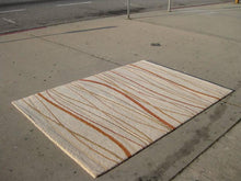 Load image into Gallery viewer, High Pile Area Rug in Beige, Rust and Tan