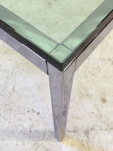 Load image into Gallery viewer, Glass Top Florence Knoll Side Table