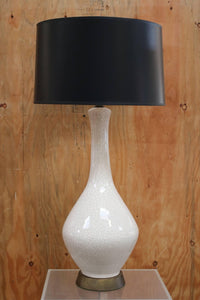 White Crackled Ceramic Table Lamp