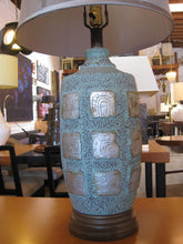 Load image into Gallery viewer, Pair of Maya Glyph Ceramic Lamps