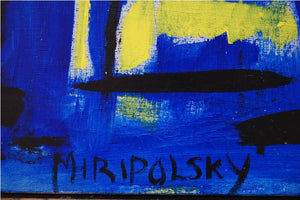 Abstract Oil on Canvas by Bert Miripolsky