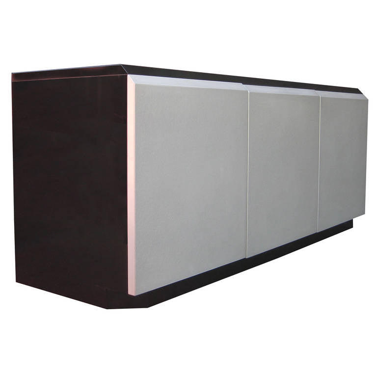 Iridescent Lacquered Credenza by Rougier