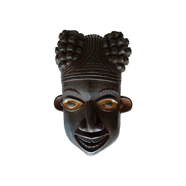 Dual Sided Face African Sculpture