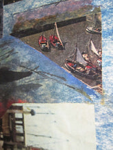 Load image into Gallery viewer, Mixed Media Nautical Collage by French Artist France Cami