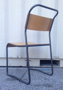 Industrial Metal & Plywood Chair