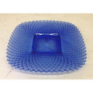 Vintage Blue Glass Tray