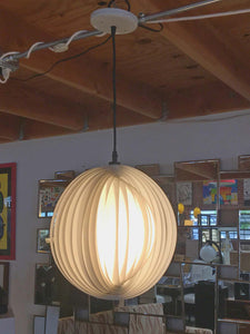 White Spherical Moon Pendant Lamp Edited by MoMA