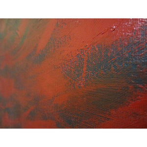 Feathery Red Abstract Painting