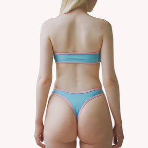 mew 2 in 1 blue thong bikini bottom