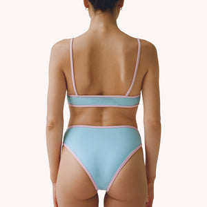 mew 2 in 1 blue high waisted bikini bottom