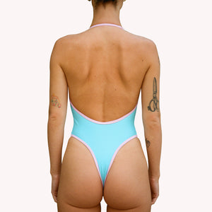 MEW 2 in 1 blue one-piece