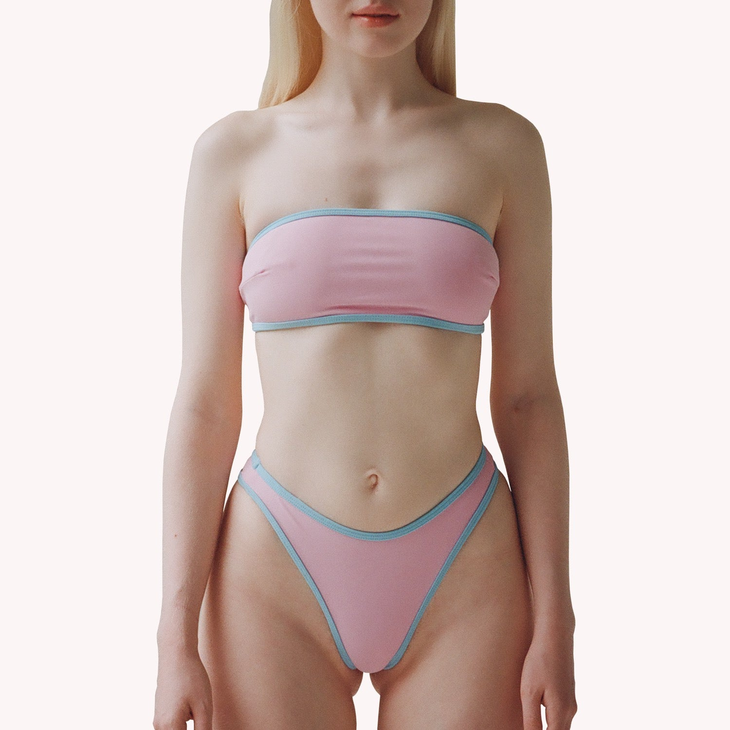 mew 2 in 1 pink thong bikini bottom
