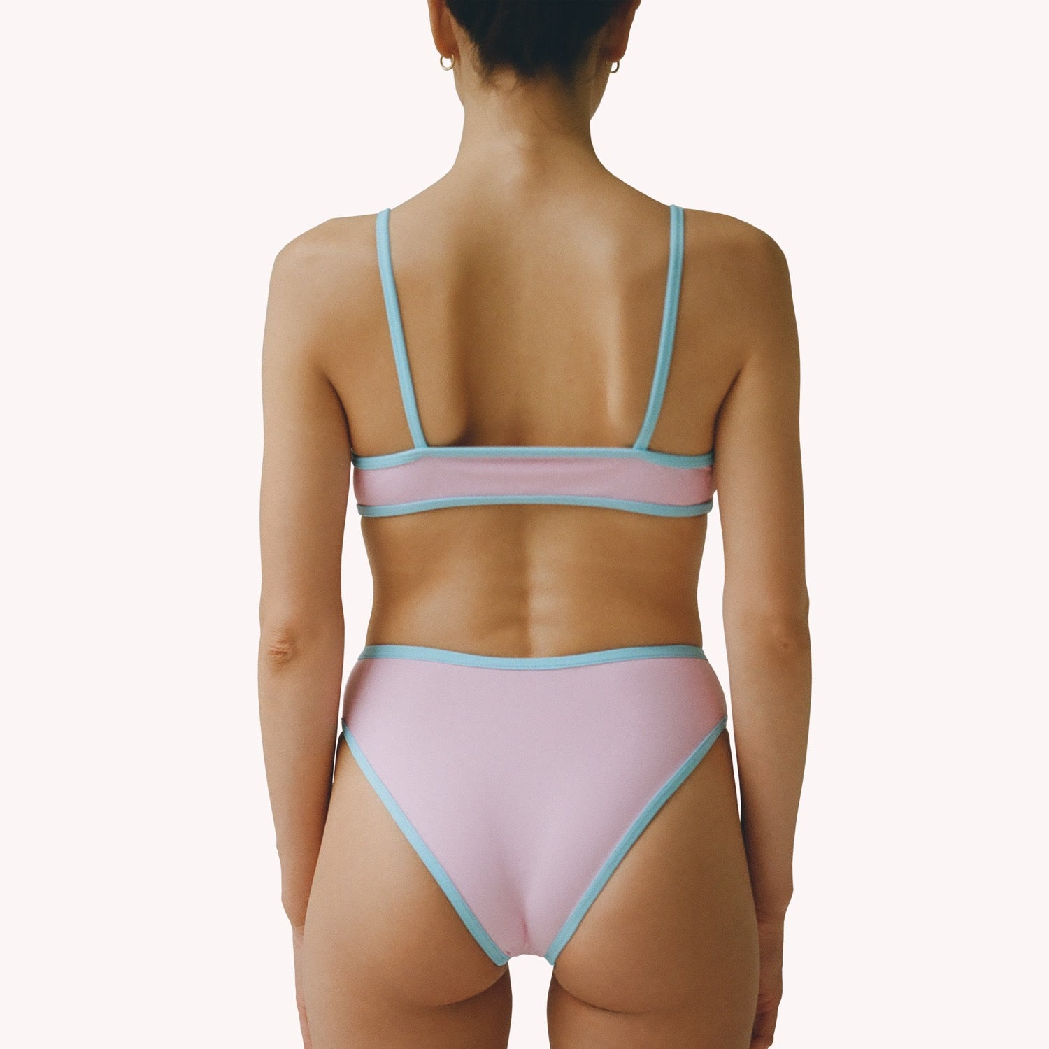 mew 2 in 1 pink high waisted bikini bottom