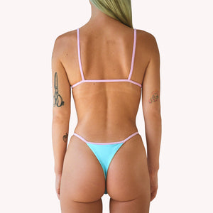 mew 2 in 1 blue string thong panties