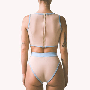 sand n blue neoprene bikini brief bottom