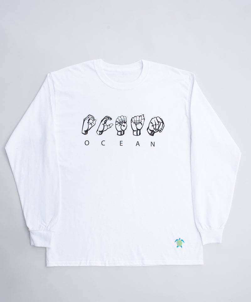 Ocean sign longsleeve - White