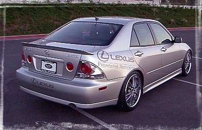 Lexus IS 00-05 RMM Rear Lip Spoiler