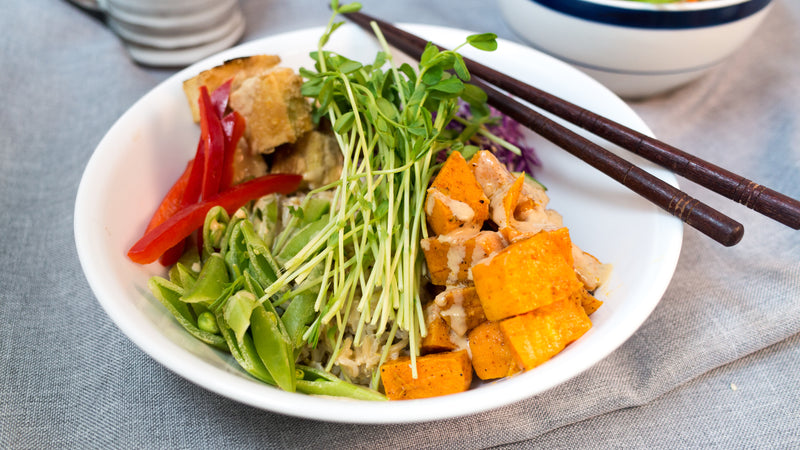 Bali Buddha Bowl with Peanut Tofu