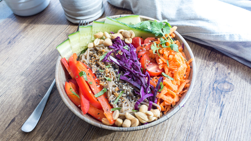 Bánh Mì Salad with Buckwheat Noodles