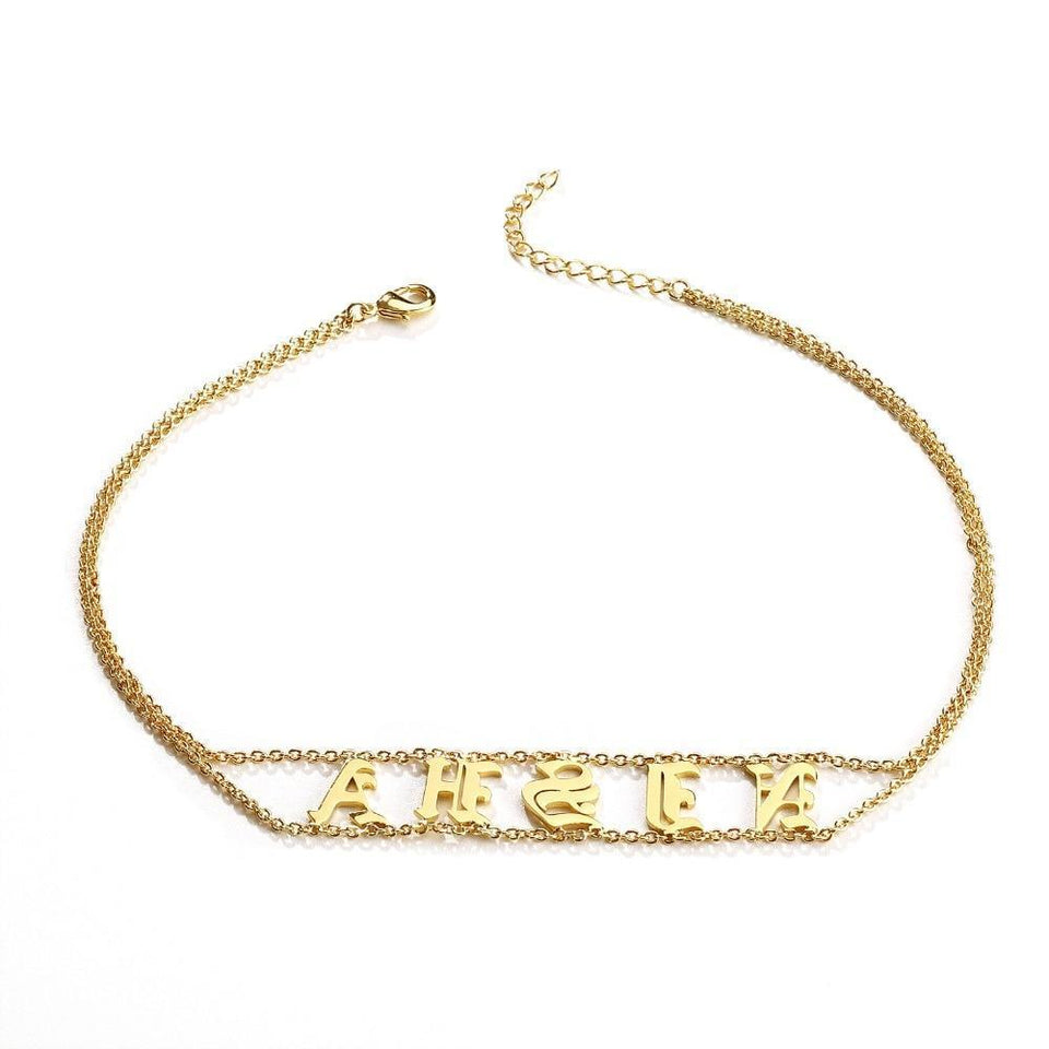 9aa8c45cb22b3 Personalized Name Plate Necklace Gothic Choker