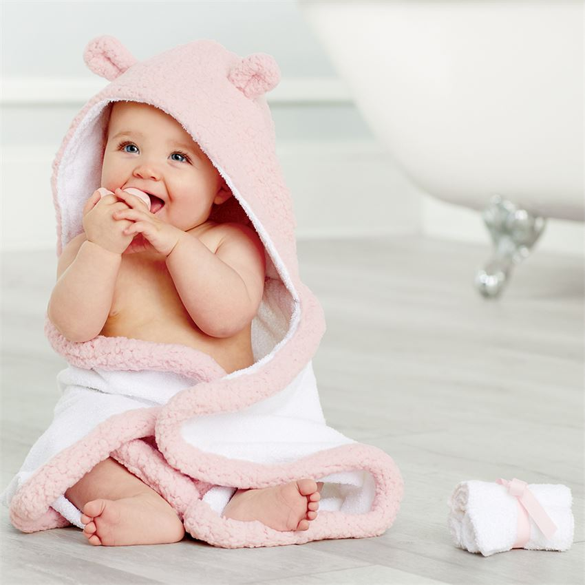 Baby Bath Time Gift Set: Pink