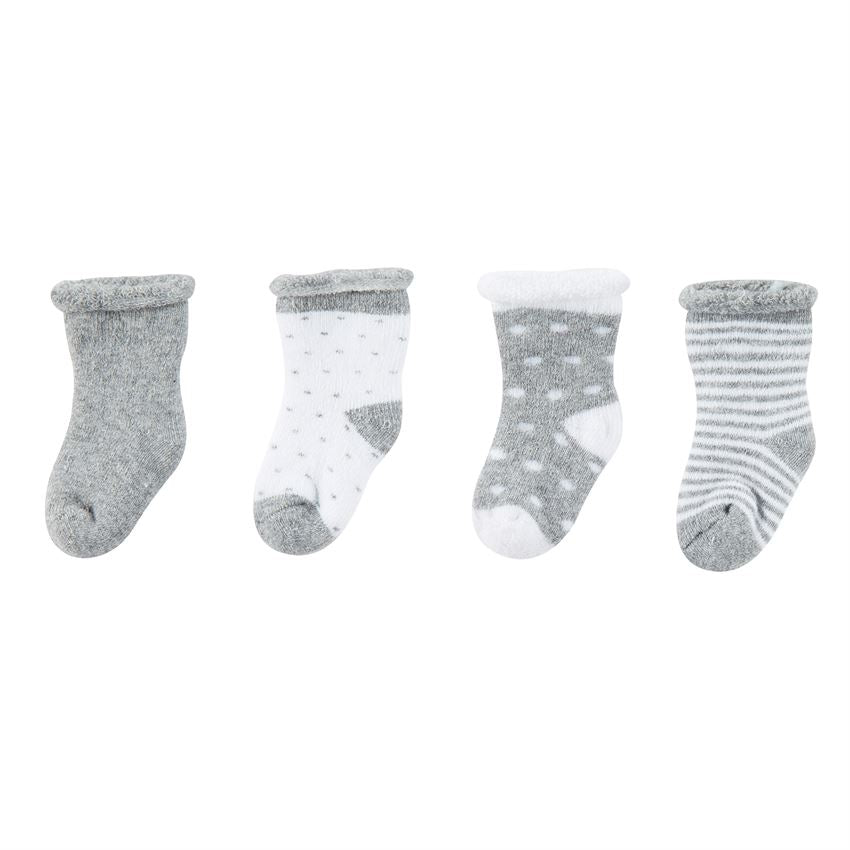 Gray Newborn Sock Set