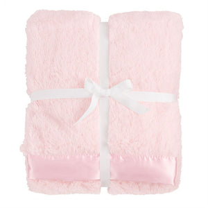 Pink Satin Trim Baby Blanket