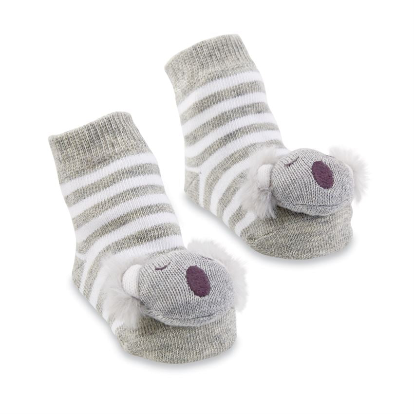 Koala Rattle Toe Socks