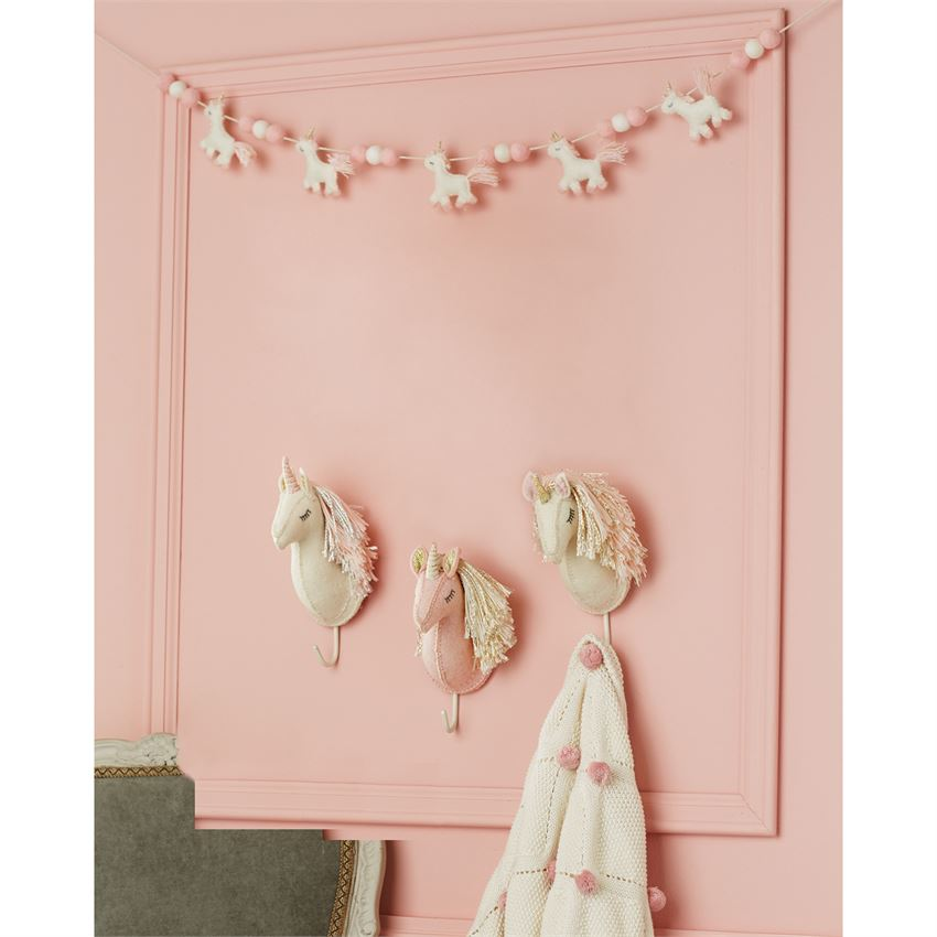 Unicorn Wall Hook | Pink & Gold