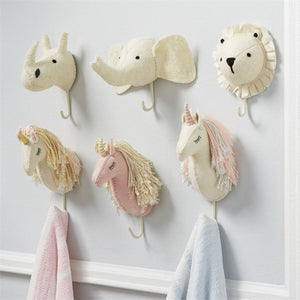 Unicorn Wall Hook | White & Silver