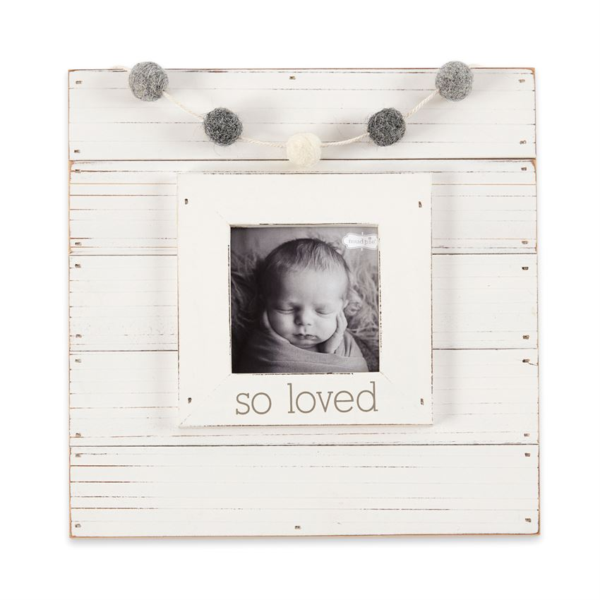 White So Loved Garland Frame