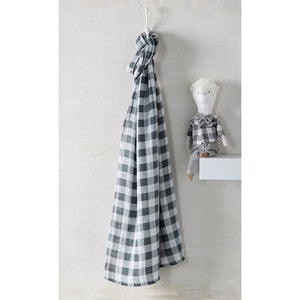 Muslin Gingham Swaddle Blanket