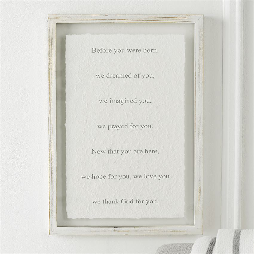 We Prayed Glass Plaque