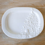 Tannenbaum Embossed Serving Platter