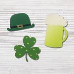 St. Paddy's Green Beer Magnets S/3