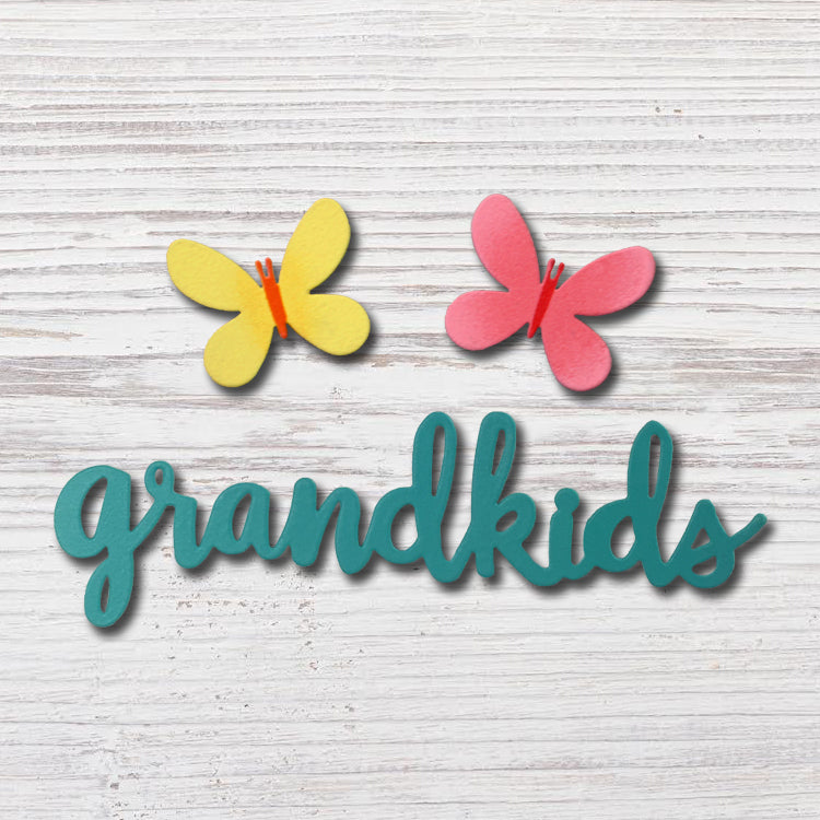 """Grandkids"" with Butterfly Magnets"